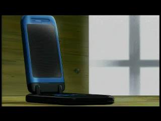 何も映らない携帯