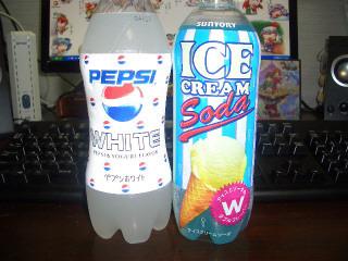 ペプシ白&アイスクリームソーダ